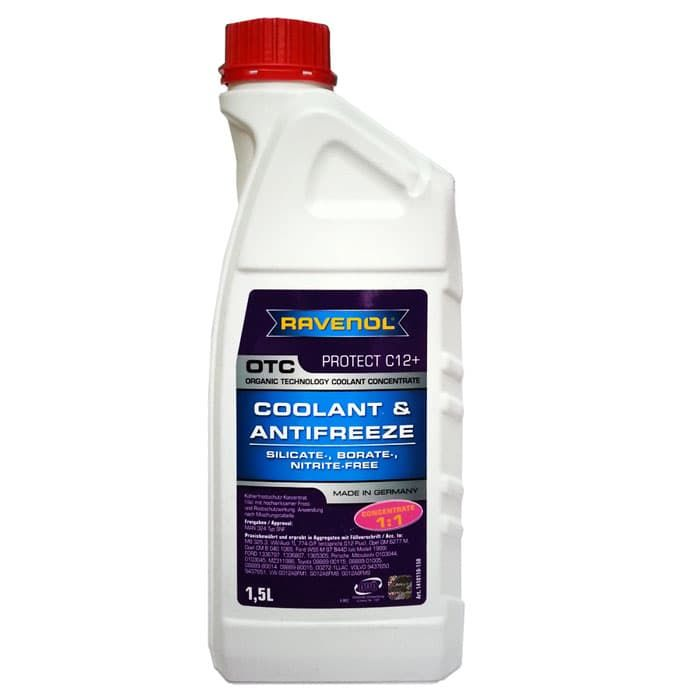 RAVENOL Антифриз OTC Organic Technology Coolant -40С G12 концентрат красный 1,5л