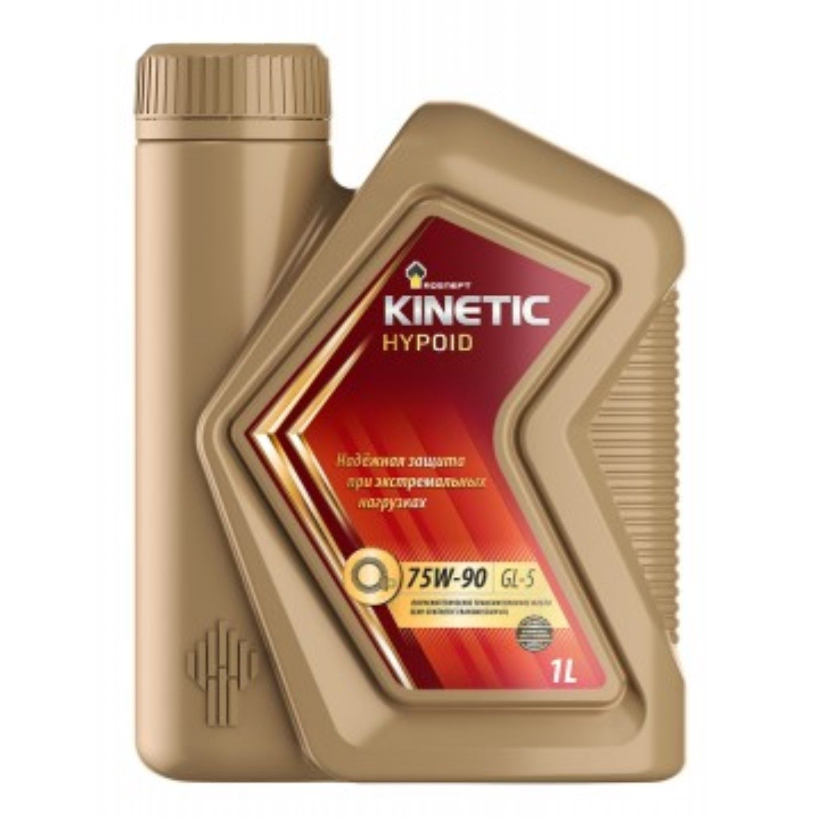 РОСНЕФТЬ Трансмиссионное масло Kinetic Hypoid GL-5 SAE 75w90 1л Semi-synthetic