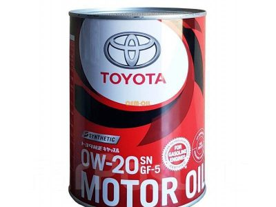 TOYOTA Моторное масло Motor Oil SAE 0w20 1л (жест) Full-synthetic