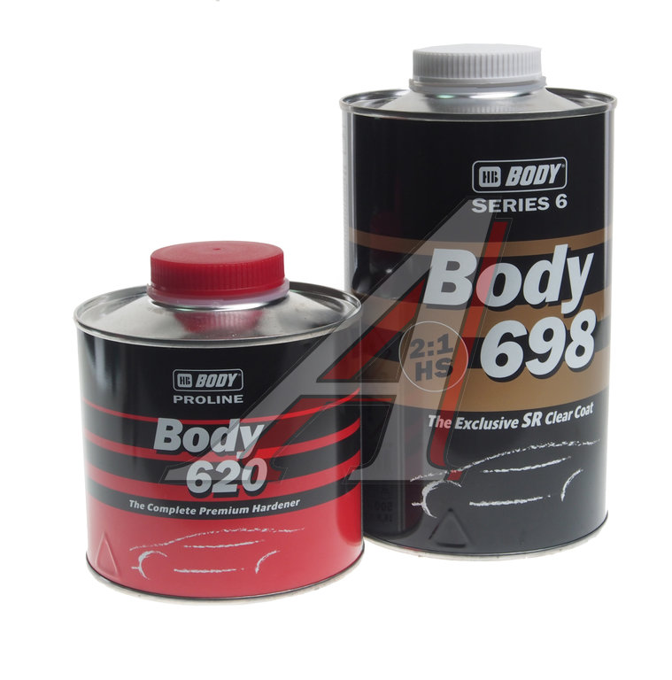 HB BODY Лак прозрачный PROLINE 698 HS 1л + отвердитель 620, 0,5л