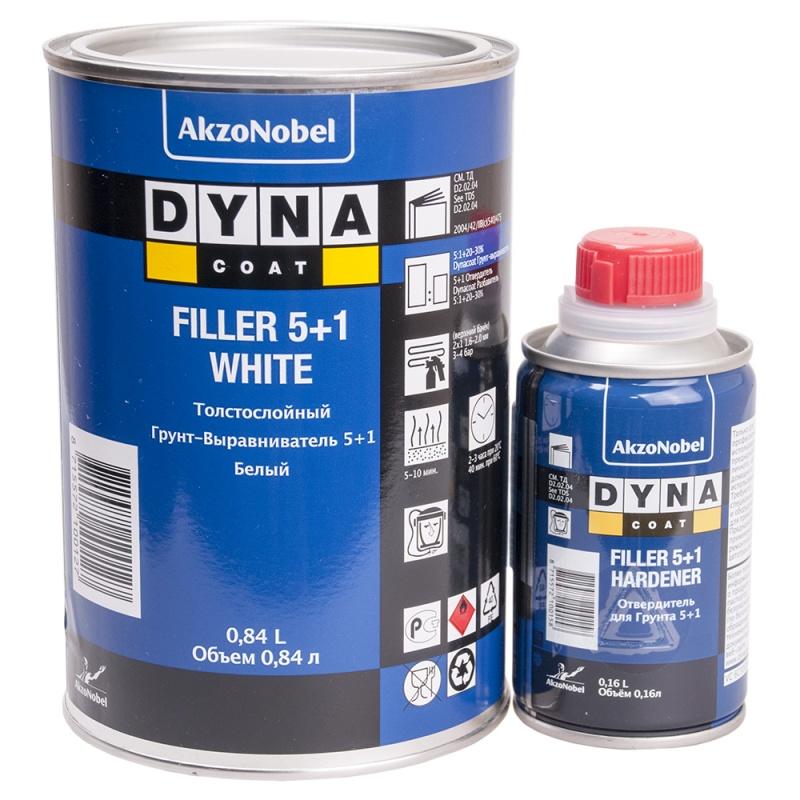 DYNACOAT Грунт Filler 5+1 серый, 0,84л + отвердитель 0,16л