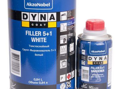 DYNACOAT Грунт Filler 5+1 черный, 0,84л + отвердитель 0,16л