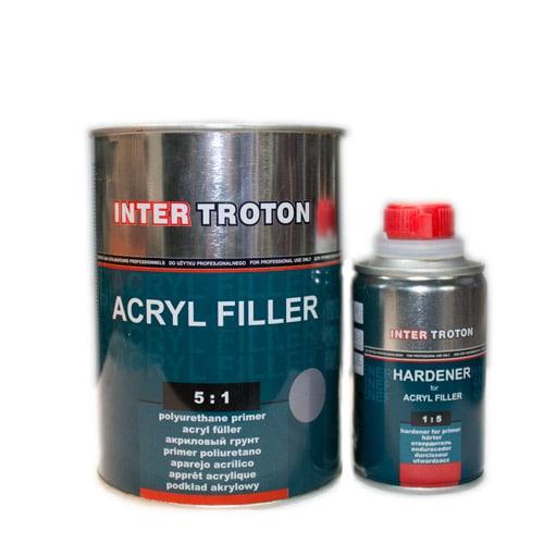 INTERTROTON IT AKRYL FILLER 2К Грунт-наполнитель 5:1 HS, графитовый , 0,5л + отвердитель 0,1л