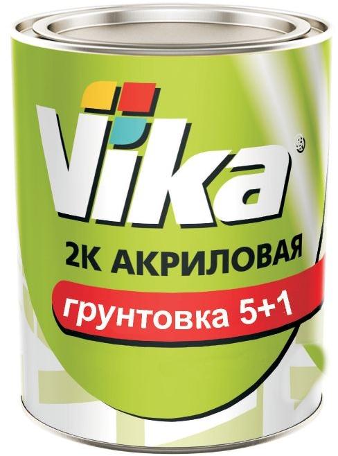 VIKA Грунтовка акриловая 5+1 HS черная 1,2л + отвердитель 0,18л