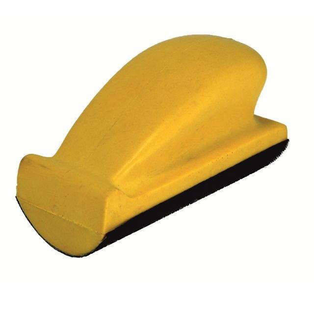 РУССКИЙ МАСТЕР Блок шлифовальный мягкий выпуклый R=35мм на липучке, 70х125 мм