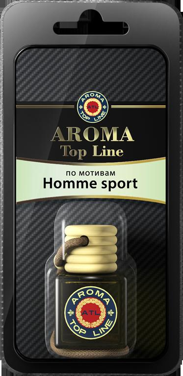 AROMA TOP LINE Ароматизатор подвесной флакон по мотивам Homme Sport Dior