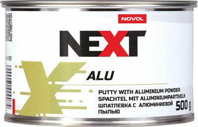 NOVOL NEXT Шпатлевка с алюминиевым наполнителем Alu, 0,5кг + отвердитель 0,015гр