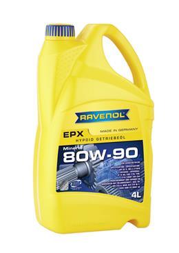 RAVENOL Трансмиссионное масло МКПП EPX SAE 80w90 4л Semi-synthetic