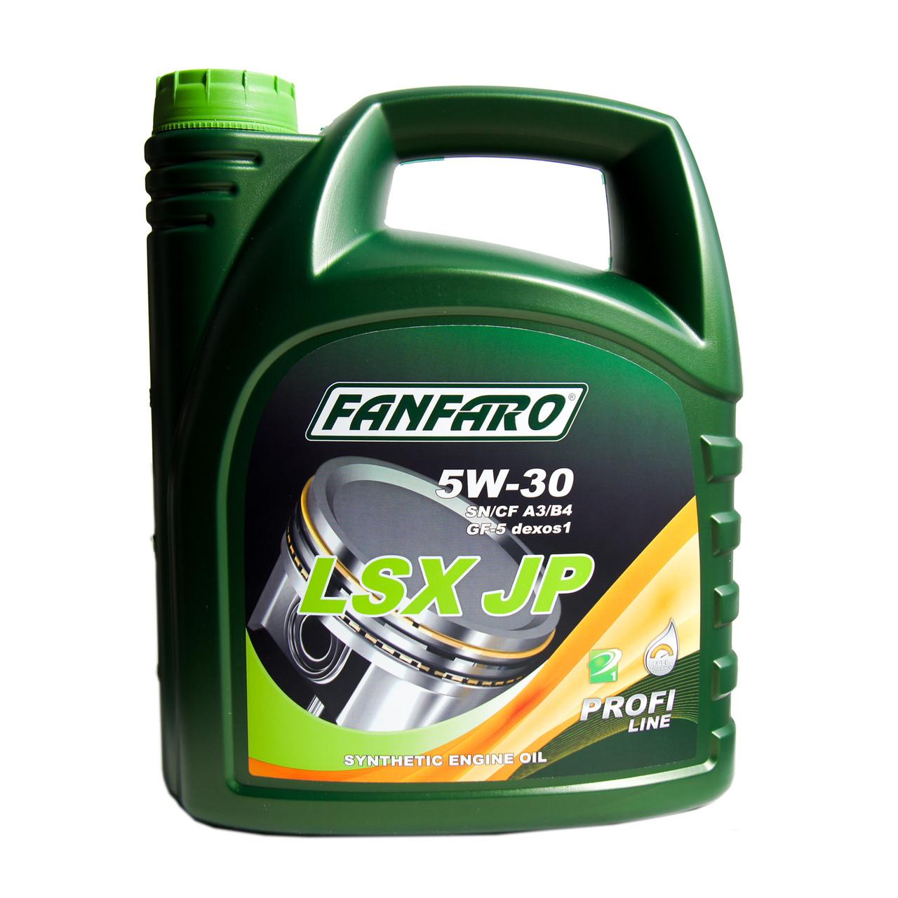 FANFARO Моторное масло LSX JP SAE 5w30 4л Full-synthetic