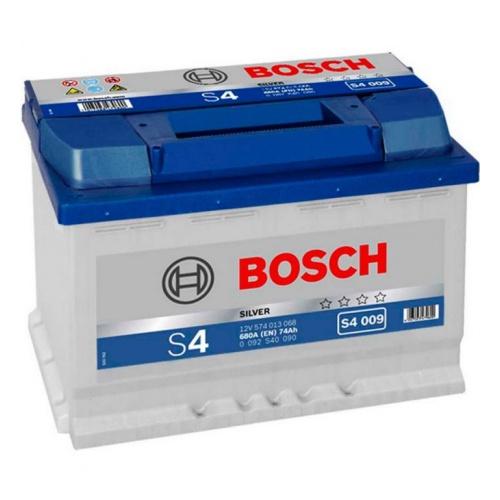 BOSCH Аккумуляторная батарея автомобильная Silver 74 A/h прямая полярность