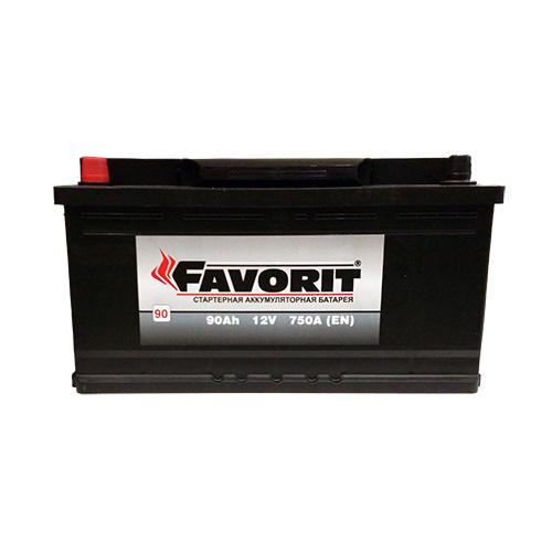 FAVORIT Аккумуляторная батарея автомобильная 90 А/h обрятная полярность
