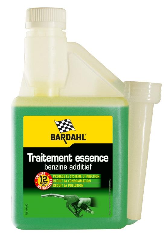 BARDAHL Комплексная присадка в бензин: промывка топливной системы Fuel Treatment, 0,5л