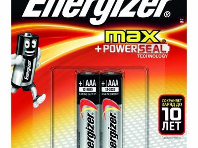 ENERGIZER Батарейки Max E92 AAA 2шт