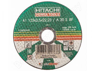 HITACHI Круг отрезной A24 (14A), 125мм х 2,5мм х 22мм
