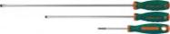 JONNESWAY Отвертка стержневая шлицевая ANTI-SLIP GRIP, SL8.0х150 мм