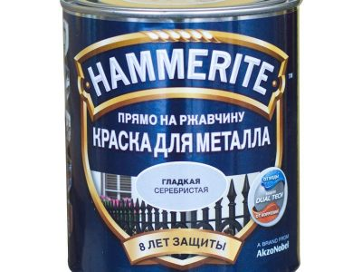 HAMMERITE Краска гладкая серебро, 5л