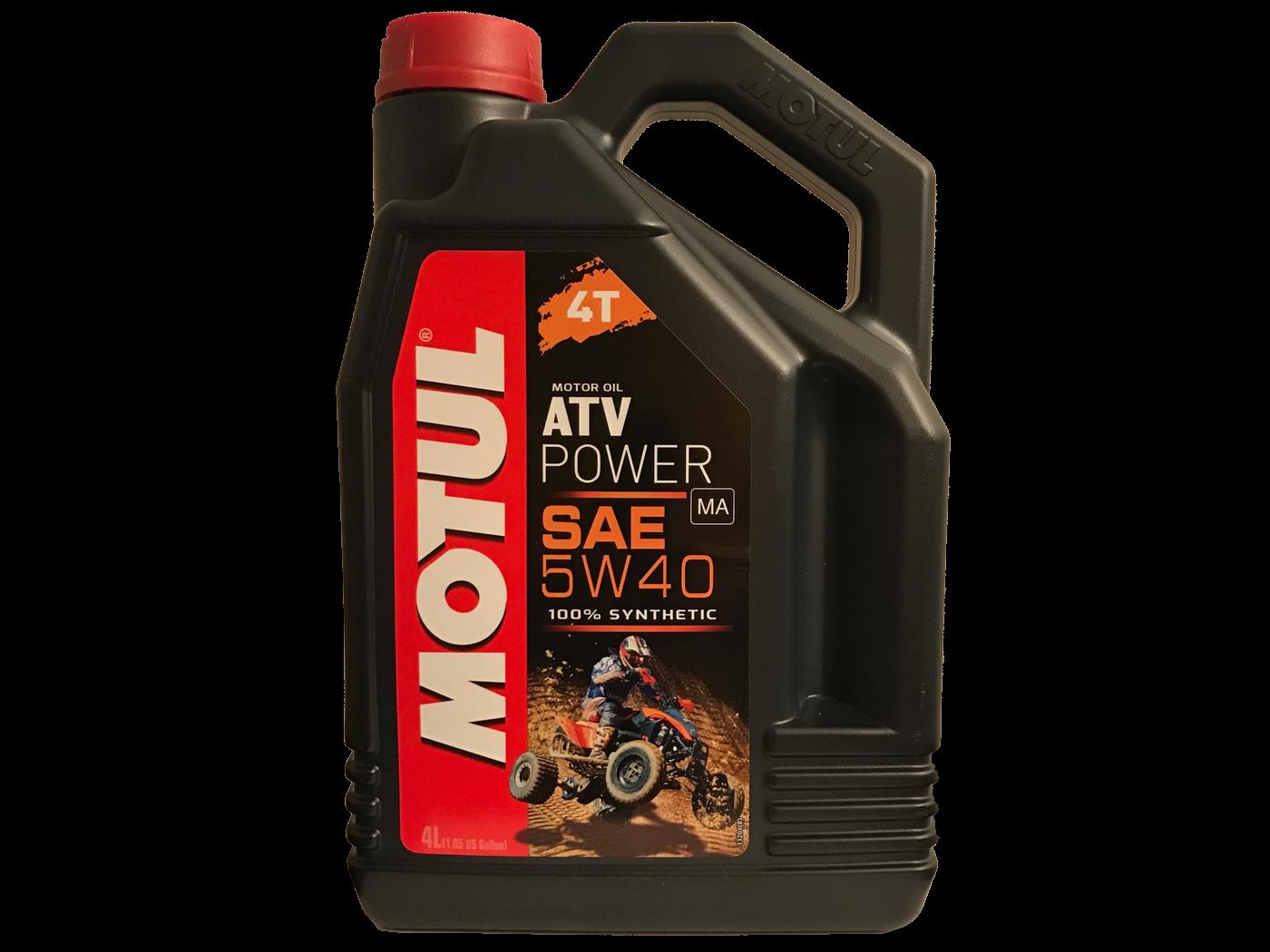 MOTUL Моторное масло 4T ATV Power 5w40 4л Full-synthetic