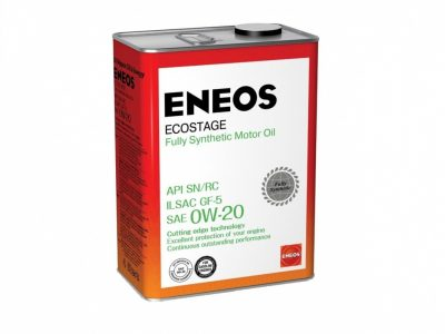ENEOS Моторное масло Ecostage SAE 0w20 4л Full-synthetic