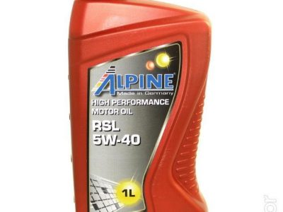 ALPINE Моторное масло RSL SAE 5w40 1л Full-synthetic