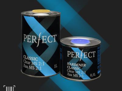 PERFECT Лак прозрачный Classic MS 1,0л + отвердитель 0,5л