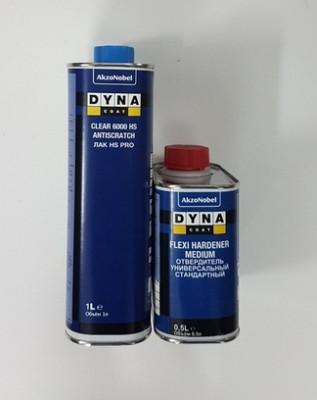 DYNACOAT Лак прозрачный Clear 6000 PRO HS 1л + отвердитель 0,5л