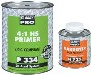 HB BODY PRO Грунт-наполнитель P334 HS 4:1 Серый + отвердитель H725 0,25л
