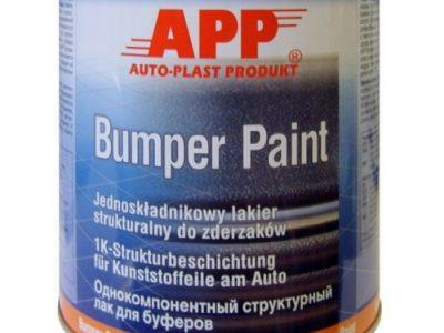 APP Однокомпонентная структурная краска для бамперов Bumper Paint Серая, 1л