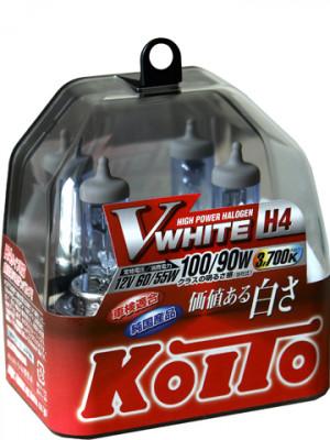 KOITO Лампа высокотемпературная H4 12V 60/55W (100/90W) Whitebeam бокс, 2 шт.