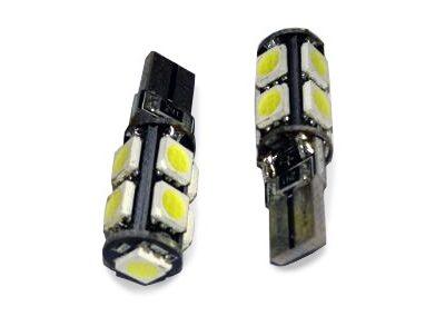 AVS Лампа автомобильная светодиодная, белый W2.1×9.5D CANBUS 9SMD 5050 в блистере 2шт C011