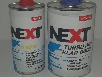 NOVOL NEXT Лак акриловый TURBO DRY KLAR 8000 1,0 л + отвердитель H8910 0,5 л