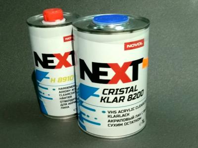 NOVOL NEXT Лак акриловый CRISTAL KLAR 8200 UHS 1,0 л + отвердитель H8900 0,5л