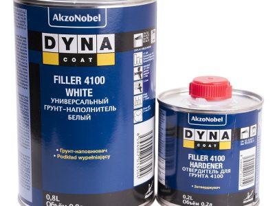 DYNACOAT Грунт Filler 4100 белый 0,8л + отвердитель 0,2л