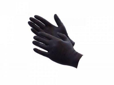 REMIX Перчатки нитриловые GENERAL, размер S черные (пара)