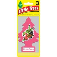 LITTLE TREES Комплект ароматизаторов (3 шт.) ёлочка «Ягода-корица» (Cinna-Berry) 1уп.х3шт.