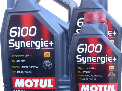 MOTUL Моторное масло 6100 Synergie+ SAE 10w40 4л Semi-synthetic
