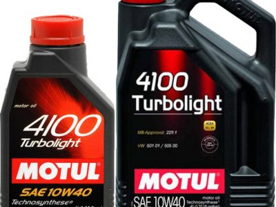 MOTUL Моторное масло 4100 Turbolight SAE 10W40 1л Semi-synthetic