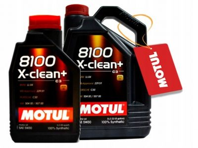 MOTUL Моторное масло 8100 X-Clean+ SAE 5w30 5л Full-synthetic