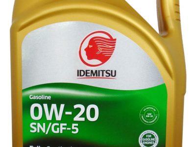 IDEMITSU Моторное масло SN/GF-5 SAE 0W20 4л Full-synthetic