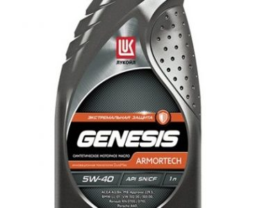 ЛУКОЙЛ Моторное масло Genesis Armortech SAE 5w40 1л Full-synthetic