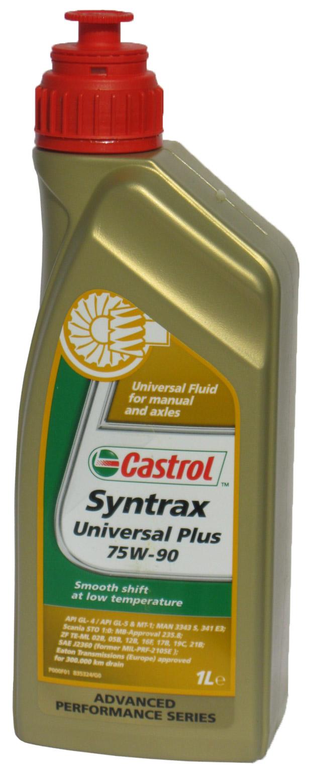 CASTROL Трансмиссионное масло МКПП Syntrax Universal Plus SAE 75w90 1л Full-synthetic
