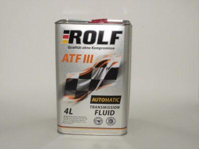 ROLF Трансмиссионное масло АКПП ATF III 4л Mineral oil