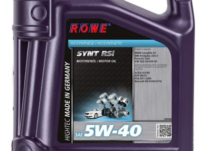 ROWE Моторное масло Hightec Synt RSi SAE 5w40 4л Full-synthetic