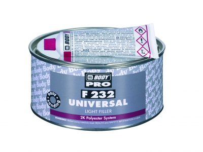 HB BODY PRO Шпатлевка F232 Universal Light Polyester Filler 1,0 кг + отвердитель 0,03 гр