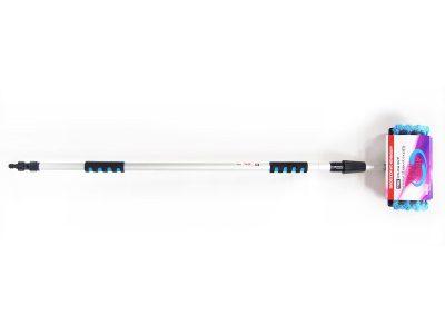AUTOVIRAZH Щетка для мытья телескопическая с краном и переходником L = 98-168 см, d = 18-22 мм