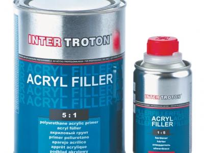 INTERTROTON IT AKRYL FILLER 2К Грунт-наполнитель 5:1 HS, серый, 0,8л + отвердитель 0,16л