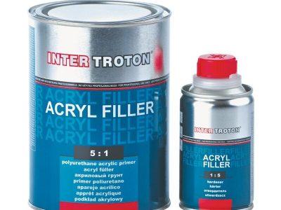 INTERTROTON IT AKRYL FILLER 2К Грунт-наполнитель 5:1 HS, графитовый,  0,8л + отвердитель 0,16л