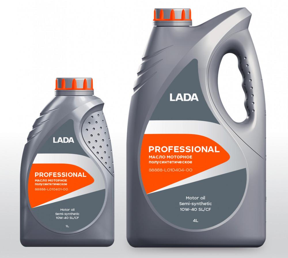 LADA Моторное масло PROFESSIONAL SL/CF SAE 10w40 4л Semi-synthetic