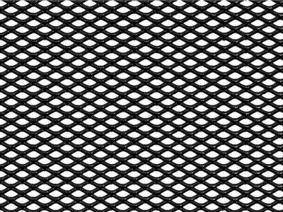 DOLLEX Облицовка радиатора (сетка декоративная) алюм. 120*20см черная ячейки 6*3,5мм