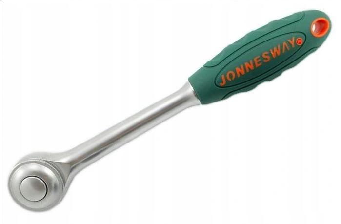 JONNESWAY Рукоятка трещоточная ротационная со сквозным приводом 1/2″DR, 60 зубца, 290 мм