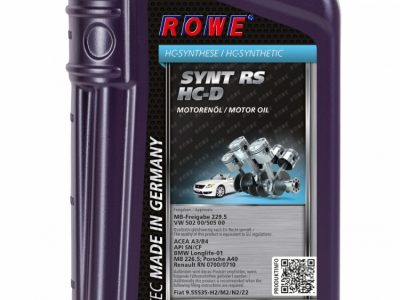 ROWE Моторное масло Hightec Synt RS HC-D SAE 5w40 1л Full-synthetic